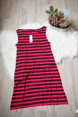Schwarzes Sommerkleid / Leichtes Kleid / Gestreiftes Kleid / Festivalkleid