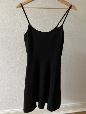 Schwarzes Spaghettiträger-Kleid von H&M in S
