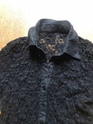 Schwarzes Spitzen Shirt Größe S
