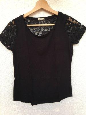 schwarzes spitzen-shirt von forever 21