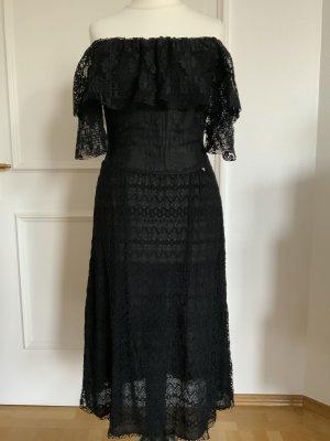 Guess Vestido de encaje negro Poliéster