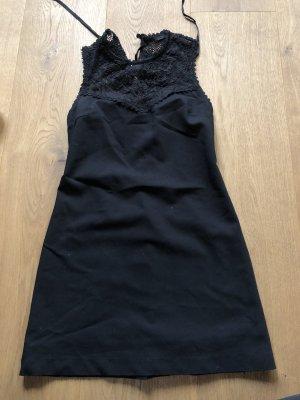 Schwarzes Spitzenkleid von Zara in Größe M