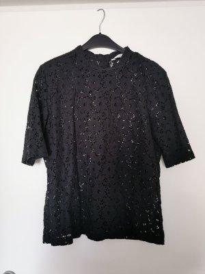 Schwarzes Spitzenshirt