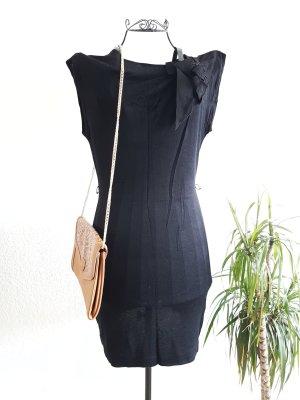 Schwarzes Stoffkleid von H&M