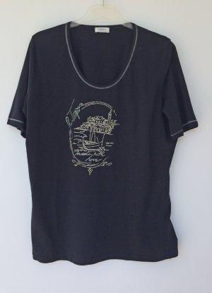 schwarzes Strass T-Shirt von faber, Größe 48