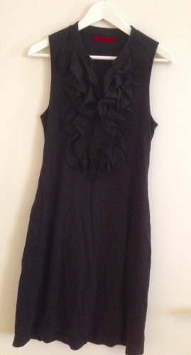 Schwarzes stretchiges Jersey Kleid in Schwarz von Velvet
