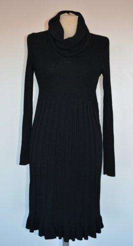 Schwarzes Strick Kleid mit Kaschmiranteil Gr. 38/40 - neu