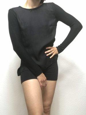 Schwarzes Strick Shirt