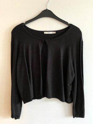 Jake*s Short Sleeve Knitted Jacket black