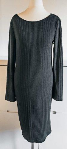 Schwarzes Strickkleid Midi von Promod
