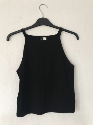 H&M Divided Knitted Top black
