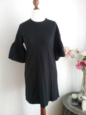 See by Chloé Vestido de tela de sudadera negro