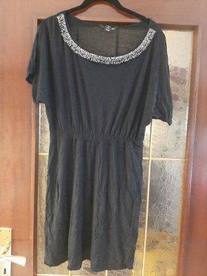 H&M Robe Sweat noir-argenté
