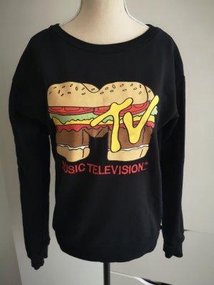 Schwarzes Sweatshirt von H&M Divided mit MTV Print Gr.XS