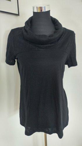 H&M Maglia con scollo a cappuccio nero