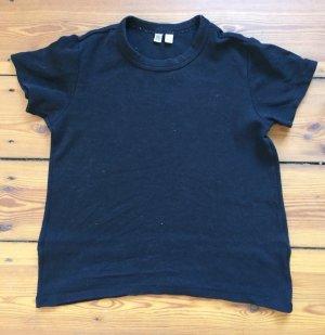 Schwarzes T-Shirt aus Supima-Baumwolle * Uniqlo * Größe S