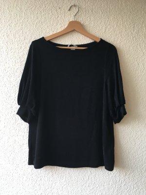 Schwarzes T-Shirt mit edlem Glitzer