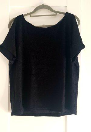 Schwarzes T-Shirt mit Glitzerpartikel
