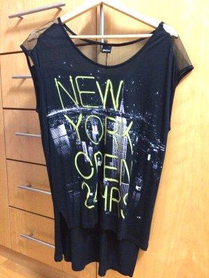 Schwarzes T-Shirt mit New York Print