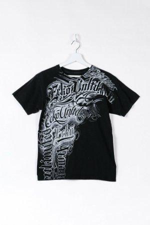 Schwarzes T-Shirt mit Print in S