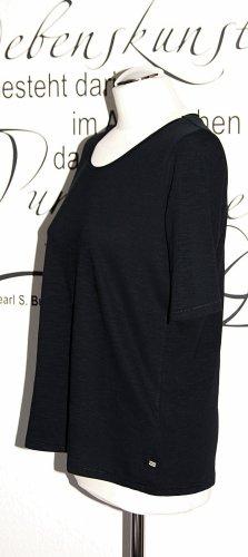 Schwarzes T-Shirt mit Rundhalsausschnitt (100% Baumwolle) - NEU!!