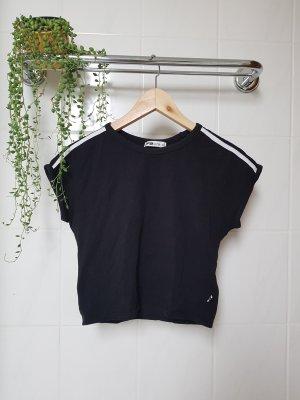 New Yorker Camisa recortada blanco-negro Algodón
