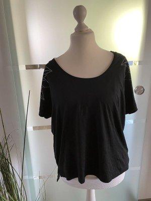 Schwarzes T-Shirt von Esmara by Heidi Klum, Gr. L (44/46)