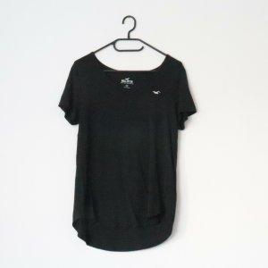 schwarzes T-Shirt von Hollister