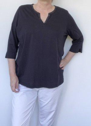 Olsen V-Neck Shirt black cotton