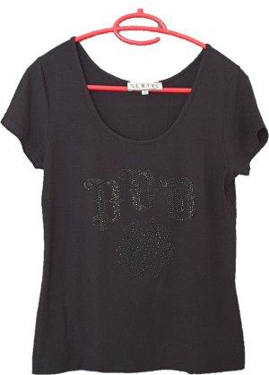schwarzes T-Shirt von SEMPRE