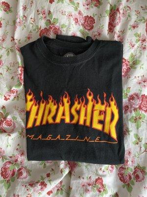 Schwarzes Thrasher Shirt