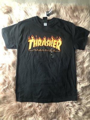 Schwarzes Thrasher T-Shirt neu