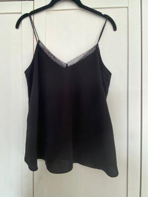 Mango Silk Top black