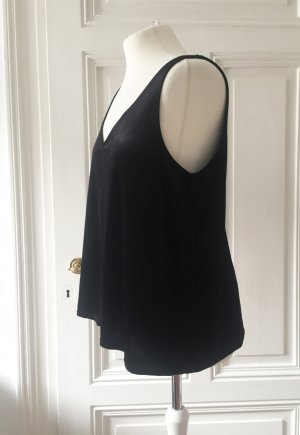 H&M Backless Top black mixture fibre