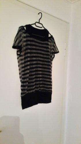 Netshirt zwart-grijs