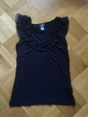 H&M Top met franjes zwart