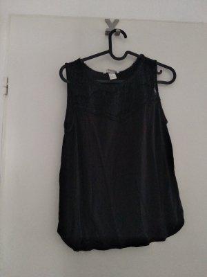 H&M Top di merletto nero Viscosa