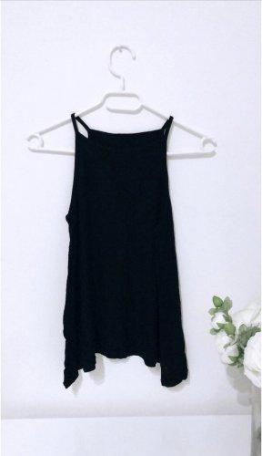 Schwarzes top oberteil shirt basic tshirt neckholder black