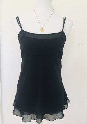 H&M Silk Top black