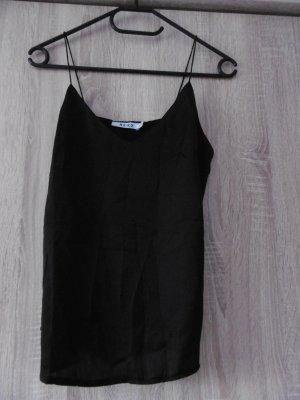 NA-KD Top met spaghettibandjes zwart Polyester