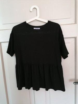 Zara Top peplum negro