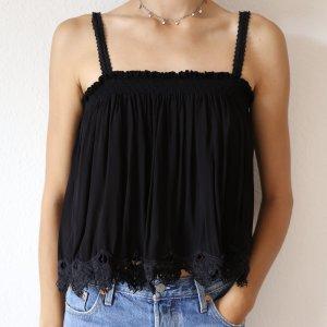 schwarzes Top Zara mit Details M