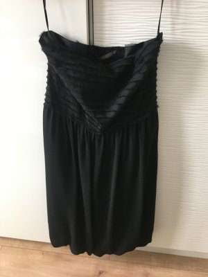 Zara Pinafore dress black polyester