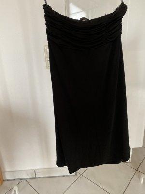 Schwarzes trägerloses Kleid Größe 36