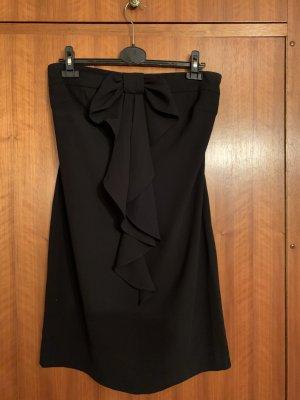 Schwarzes trägerloses Kleid von Hallhuber