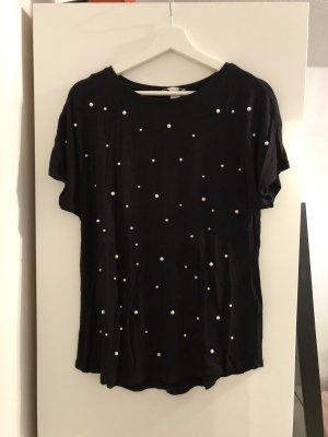 Schwarzes tshirt mit Perlen