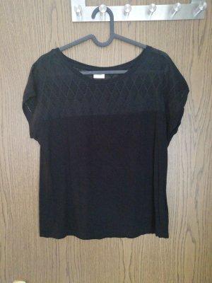 Schwarzes tshirt mit Verzierung M