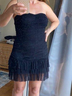 Schwarzes Tüll Kleid, Schwarz, Gr. 34