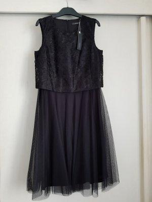 Schwarzes ungetragenes Spitzen-Tüll-Kleid von ESPRIT