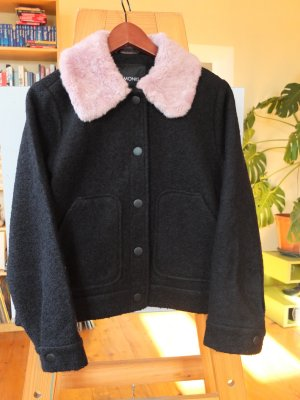 Monki Giacca corta nero-rosa chiaro Lana